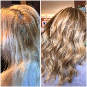 double process hair coloring