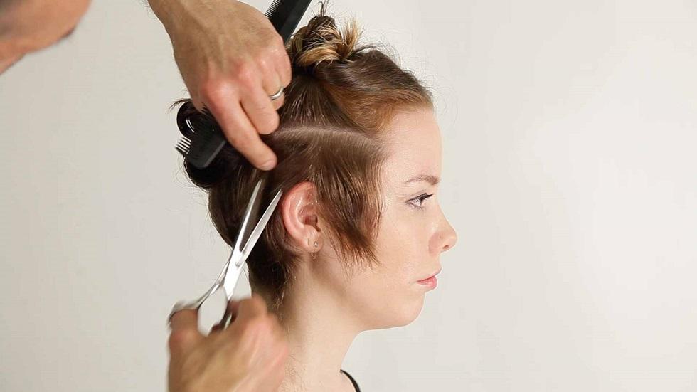 pixie haircut at home